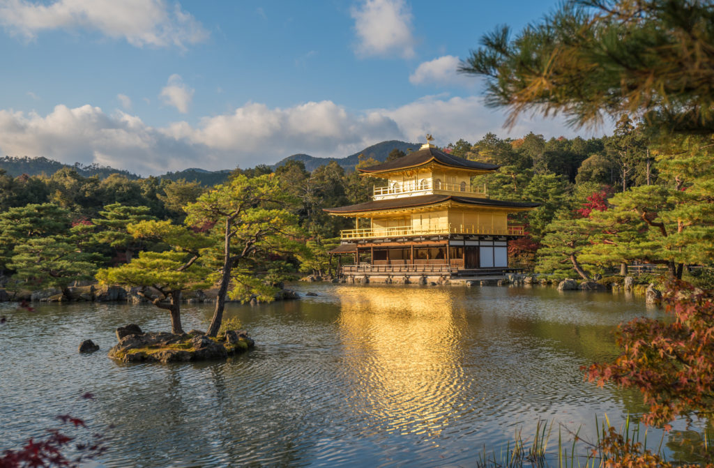 Kinkaku-ji buddhist temple Golden pavilion