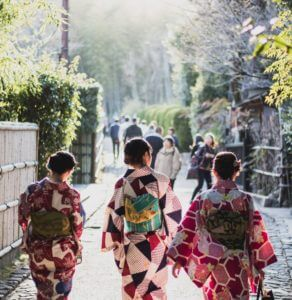 Walk Around the town in Kimono